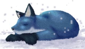 the sleeping fox - colour by Linebine