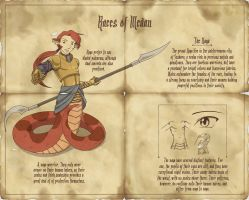 Races of Medan - The Naga by Kitsune64