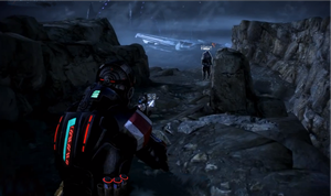 Mass Effect Hud05 - Red + Shield by Nuranon