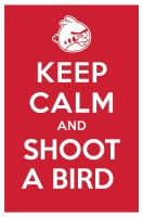 KEEP CALM AND SHOOT A BIRD by manishmansinh