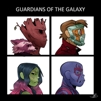 Gorillaz of the Galaxy by Redundantthoughts