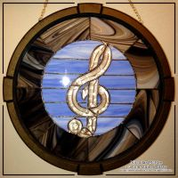 Stained Glass Treble Clef by NicholasMcRae