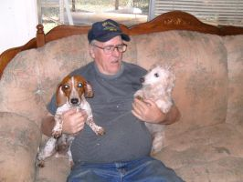 dad with dogs by Emilyahedrick