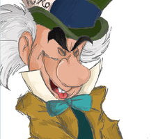 Mad Hatter scribble by CurlyPoCkY