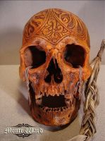 Carved Dayak War Trophy Skull by dreggs88