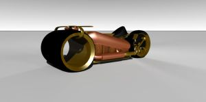 Steampunk Light Cycle V3 Front by mental-awareness