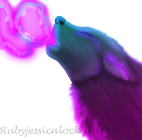 Panted wolf by Rubyjessicalockheart