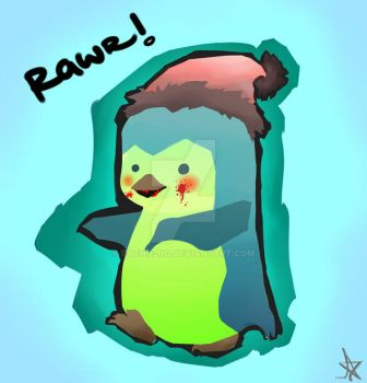 Zombie Penguin by rachie-ng