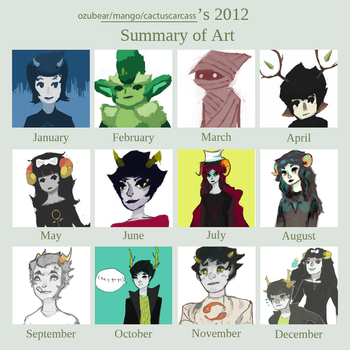 2012 ART SUMMARY by Mangomusher