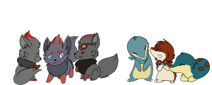 Cyndaquil and Zorua teams by The-Chibster