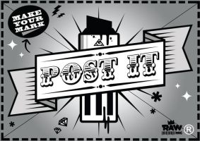 Post It Logo by PerthGraffScene