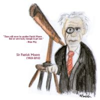 Sir Patrick Moore by FreyFox
