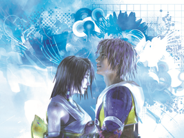 final fantasy x yuna and tidus caress by LumenArtist