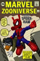 Spider-Ham Cover Marvel Zooniv by MalottPro