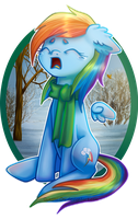 Crying Dashie by 0okami-0ni