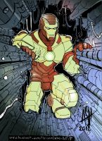 Iron man colored by scarecrowhassan
