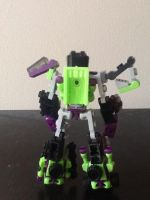 Devastator with kreon dump truck(back) by Lilscotty