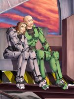 Halo: e and PMS PSK by Pinkuh