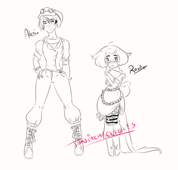 Alexi and Rosa-- WIP by twitchycreedles