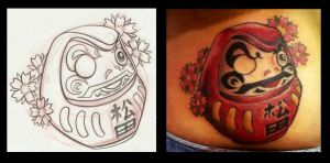 Daruma tattoo by AbrahamGart
