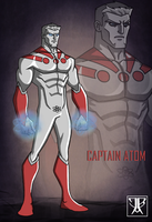 Captain Atom Redesign by KingLeonUniverse