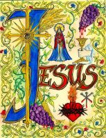 The Most Holy Name of Jesus by Theophilia