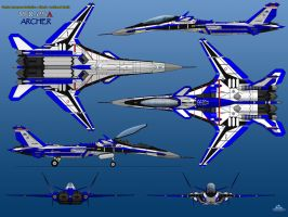 YFX-25A 6-View Prototype BLUE THREE by haryopanji