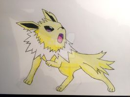 Jolteon coloured w/ shading by Car-lover33