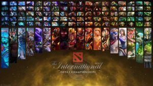 The International 5 All Heroes Wallpaper by Edward5622