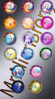 My Little Pony: orb icons by MrAlienBrony