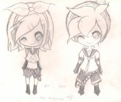 The Kagamine Twins by senga3438