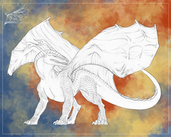 Traditional Dragon Commish Example 1 by Inemiset