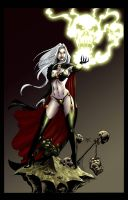 Lady Death by KenHunt flats by TrinityMathews by carol-colors