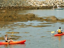 Two Kayakers by xdragonx588