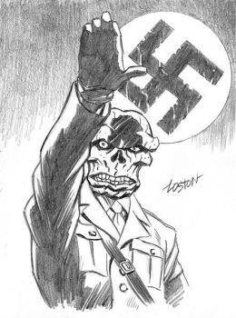 Red Skull Sketch by LostonWallace