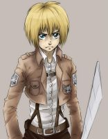 Armin Arlert 8D by InsanitylittleRed