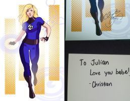 Invisible Woman w Message by avidcartoonfans