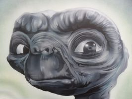 E.T Airbrushed close up. by Mathius88