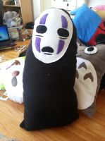 No Face Pillow by OddCurio
