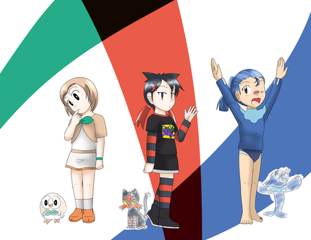 Alola Region Starter Pokemon by Uzumakitenma