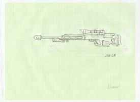 .338 Lapua Magnum sniper rifle by Tireurdelits