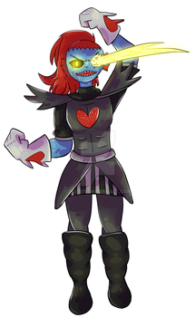 Undyne - Undertale by 1Toto1