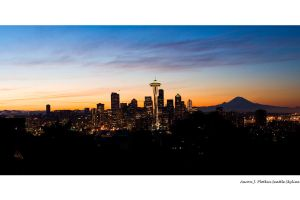 Seattle Skyline Panoramic 4 by photoboy1002001
