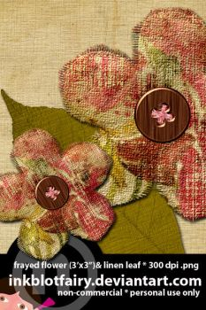Frayed Flower and Linen Leaf by inkblotfairy