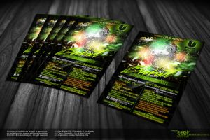 BlackOut Party Flyer - Back by Gallistero