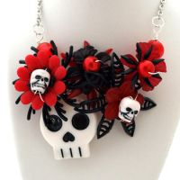 Day of the Dead Necklace by AndyGlamasaurus
