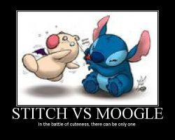 Stitch vs Moogle Motivational by TheFatedOne89