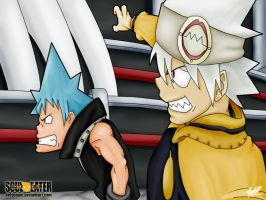 Black Star and Soul Eater by nelsonaof