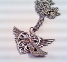 Heart of Time Necklace by SteamDesigns