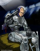 Robocop contemplates death by Mindchamber